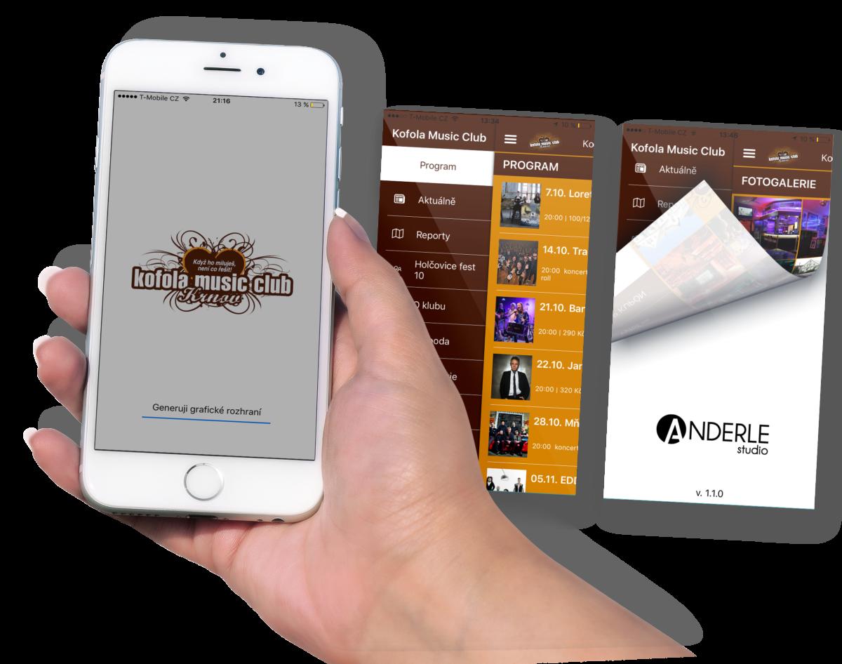Kofola music club aplikace